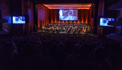 Concert of the Montreal Video Game Symphony, by the Orchestre Métropolitain and conductor Dina Gilbert, on Sept. 29th, 2017, at the Wilfrid Pelletier hall. Photo by François Goupil